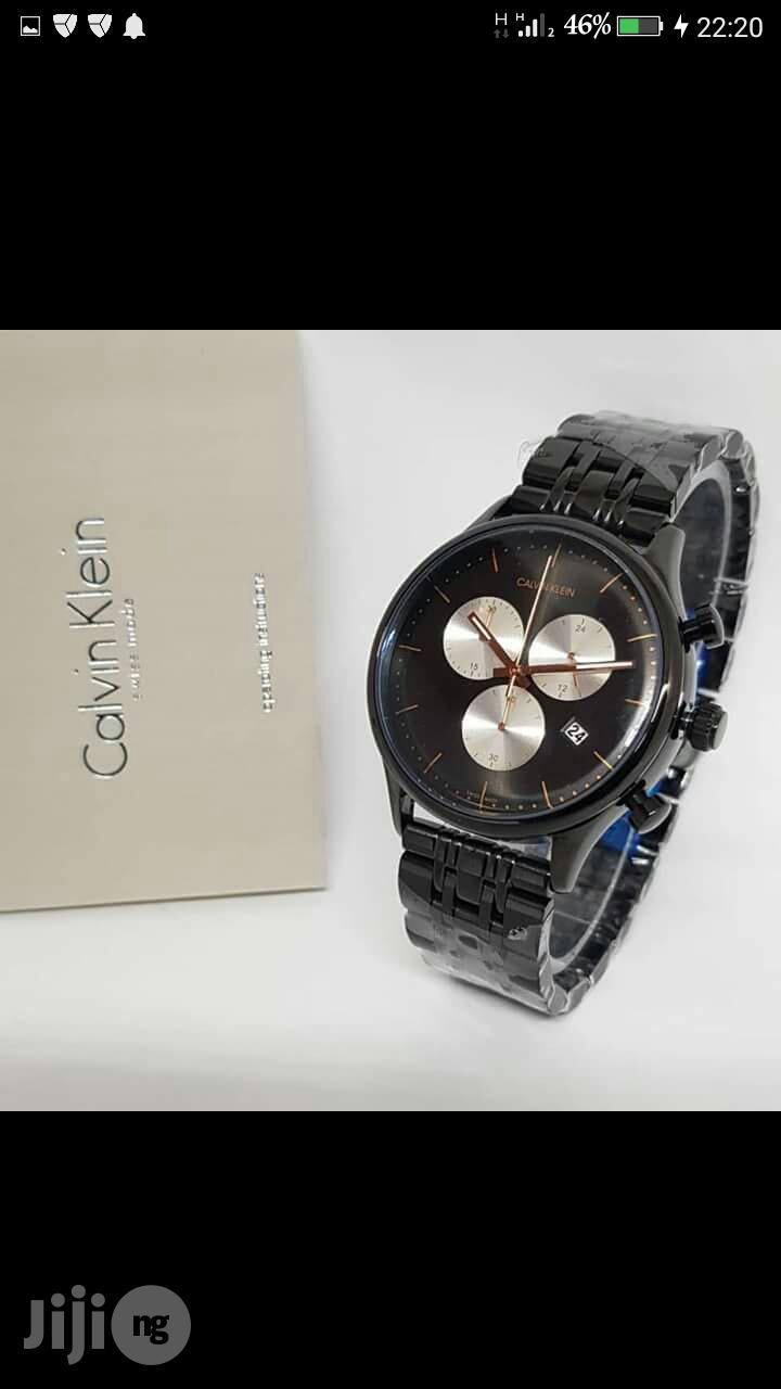 Calvin Klein(CK) Chronograph Black Chain Watch