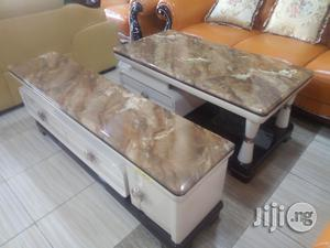 Unique Strong Adjustable Marble Top T v Stand and Center Table Imported Brand New | Furniture for sale in Lagos State