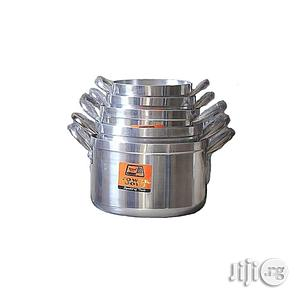 Tower Cooking Pot Set - 5 Pieces - Silver | Kitchen & Dining for sale in Lagos State, Lagos Island (Eko)
