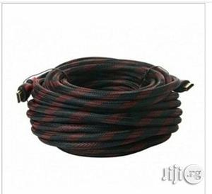 HDMI 15m HDMI To HDMI Cable - Black | Accessories & Supplies for Electronics for sale in Lagos State, Ikeja