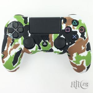 Universal Camouflage Green Silicone Sleeve Cover For Playstation 4 Controller | Accessories & Supplies for Electronics for sale in Lagos State, Ikeja