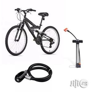 Hitman Adult Bicycle With Steel Wire Lock Helmet and Pump | Sports Equipment for sale in Lagos State, Lagos Island (Eko)
