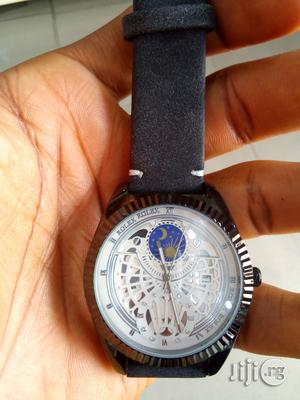 Rolex Design Leather Watch | Watches for sale in Rivers State, Port-Harcourt