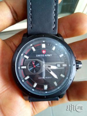 Swiss Army Leather Watch For Men   Watches for sale in Rivers State, Port-Harcourt