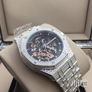 AUDEMARS Piguet Ice Studded Chain Mechanical Transparent Engine Stainless Steel Watch | Watches for sale in Lagos State, Surulere