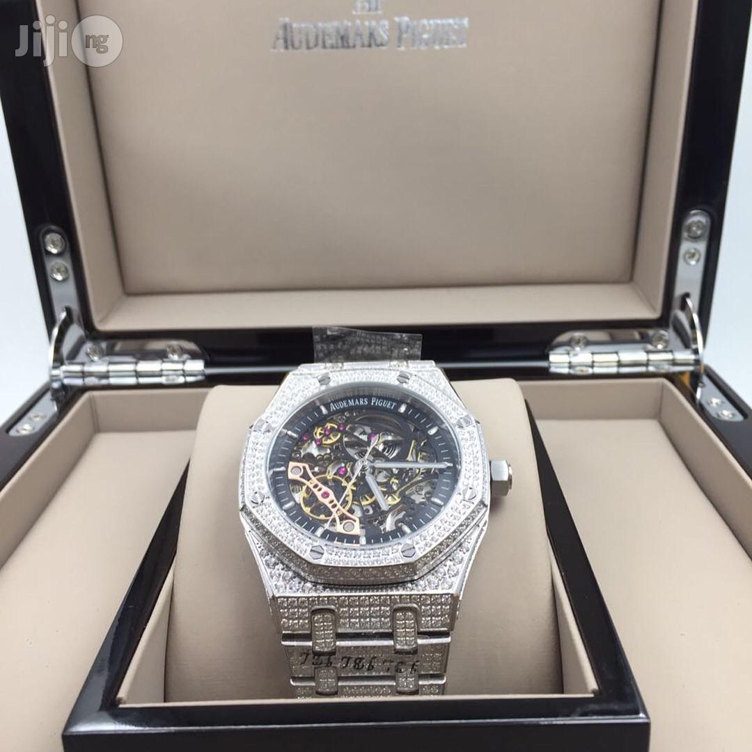 AUDEMARS Piguet Ice Studded Chain Mechanical Transparent Engine Stainless Steel Watch | Watches for sale in Surulere, Lagos State, Nigeria