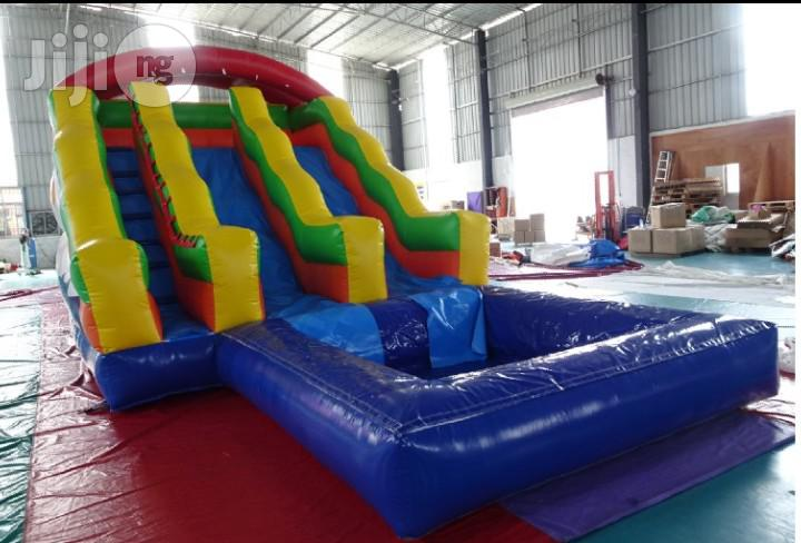 Archive: Bouncing Castle With Double Slide, Climber and Pool for Sale