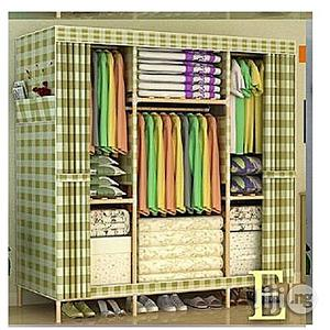 Generic Wooden Mobile Wardrobe (3 Columns Multi Compartments) L150c   Furniture for sale in Lagos State