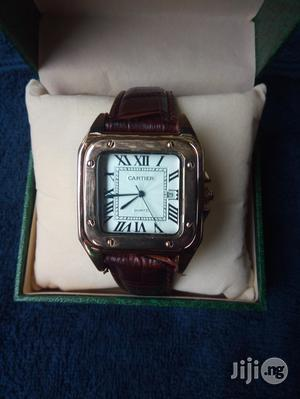 Cartier Unisex Brown Leather Wristwatch.   Watches for sale in Lagos State, Surulere