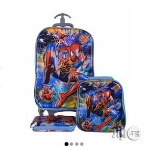Spiderman Kids Trolley Bag Lunch Box Pencil Case 6-12years   Babies & Kids Accessories for sale in Lagos State, Amuwo-Odofin