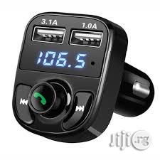 Universal Car X8 Dual Usb Bluetooth Car Charger & Fm Transmitter Mp3 Player   Vehicle Parts & Accessories for sale in Lagos State, Ikeja