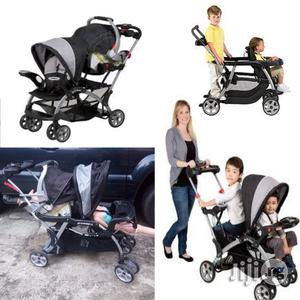 Tokunbo UK Used Baby Trend Sit And Stand Stroller With Car Seat For 2 Kids | Prams & Strollers for sale in Lagos State