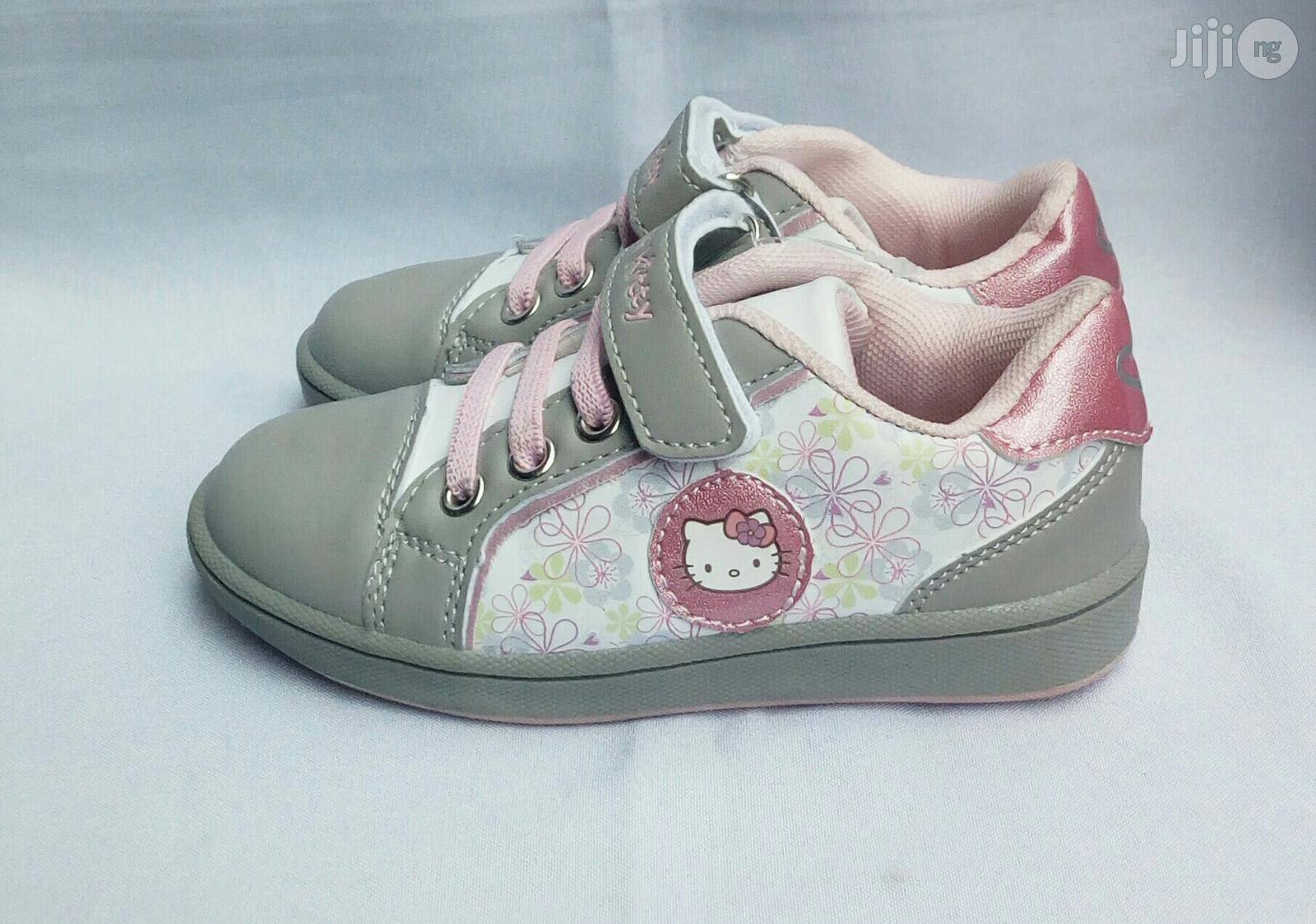 Ash and Pink Canvas for Girls | Children's Shoes for sale in Lagos Island (Eko), Lagos State, Nigeria