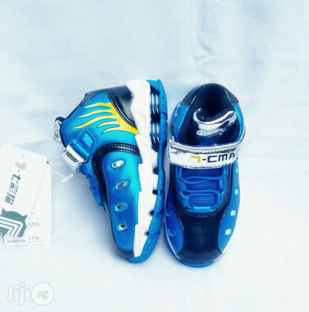 Blue High Top Canvas | Children's Shoes for sale in Lagos Island (Eko), Lagos State, Nigeria