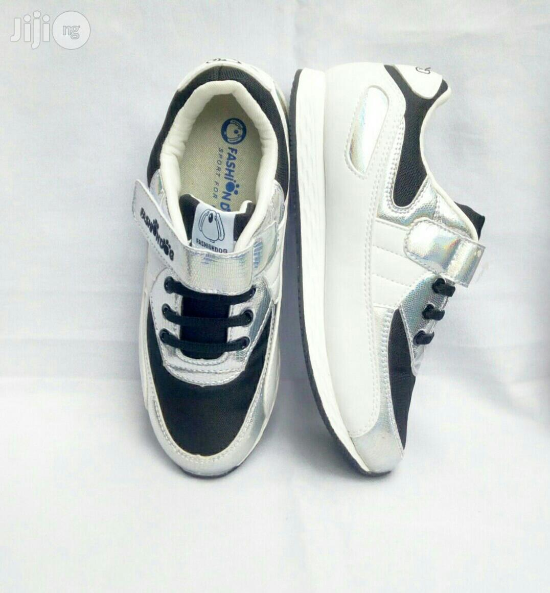 Silver ,White and Black Canvas | Children's Shoes for sale in Lagos Island (Eko), Lagos State, Nigeria