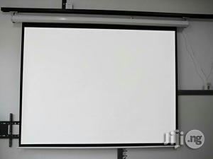 120 X 120 Electric/Motorised Projection Screen   Stationery for sale in Rivers State, Port-Harcourt