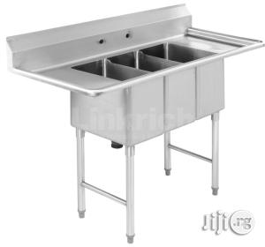Stainless Steel Sink Table | Restaurant & Catering Equipment for sale in Lagos State, Ojo