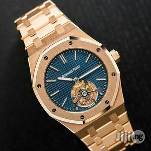 Audemars Piguet Rose Gold Blue Face Chain Watch | Watches for sale in Lagos State, Lagos Island (Eko)