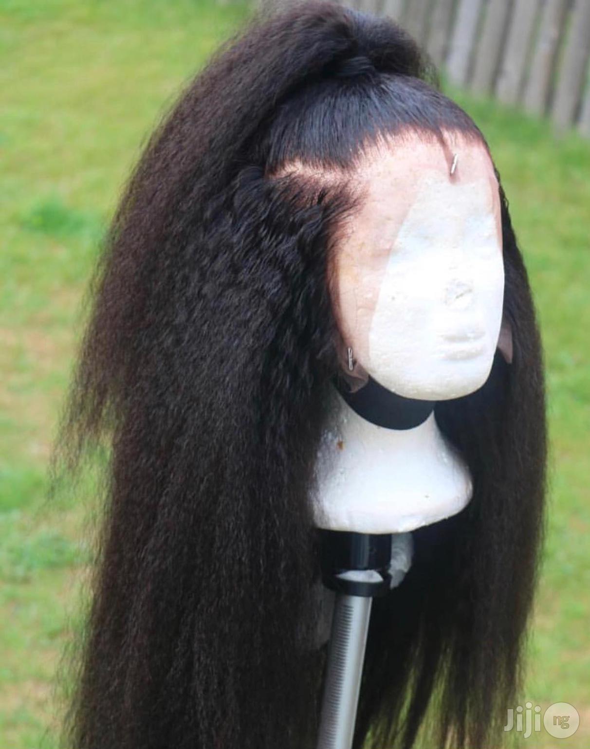 "Archive: 26"" Luxury Kinky Straight Wig"