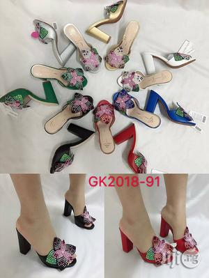 Classic Block Heel Slippers   Shoes for sale in Lagos State, Surulere