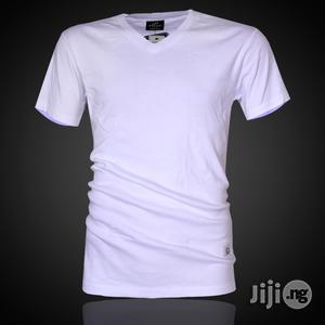 Police B.011 Bigsize Plain White Large Short Sleeve T-Shirt | Clothing for sale in Lagos State, Surulere