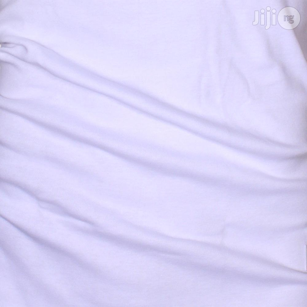 Police B.011 Bigsize Plain White Large Short Sleeve T-Shirt | Clothing for sale in Surulere, Lagos State, Nigeria