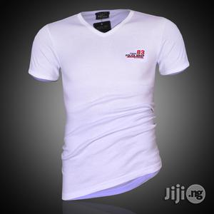 Police B.349 Bigsize White Large Printed Short Sleeve T-shirt | Clothing for sale in Lagos State, Surulere