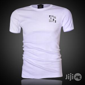 Police B.358 Large White Printed Short Sleeve T-shirt   Clothing for sale in Lagos State, Surulere
