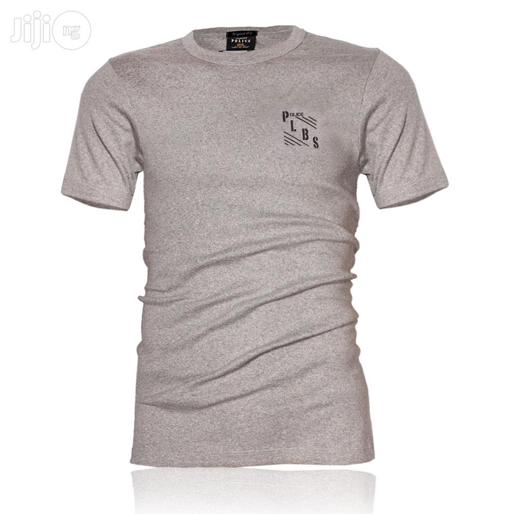 Police B.358 Large Grey Printed Short Sleeve T-shirt