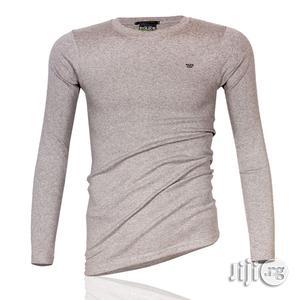 Police B.015 Xtrasize Plain Grey Large Long Sleeve T-Shirt | Clothing for sale in Lagos State, Surulere