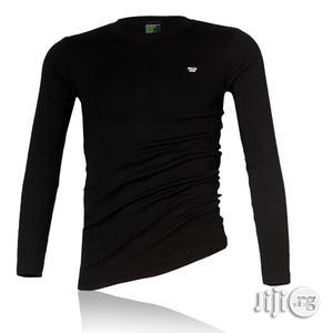 Police B.015 Xtrasize Plain Black Large Long Sleeve T-shirt | Clothing for sale in Lagos State, Surulere
