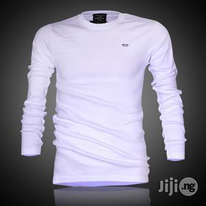 Police B.015 Bigsize Plain White Large Long Sleeve T-shirt | Clothing for sale in Lagos State, Surulere