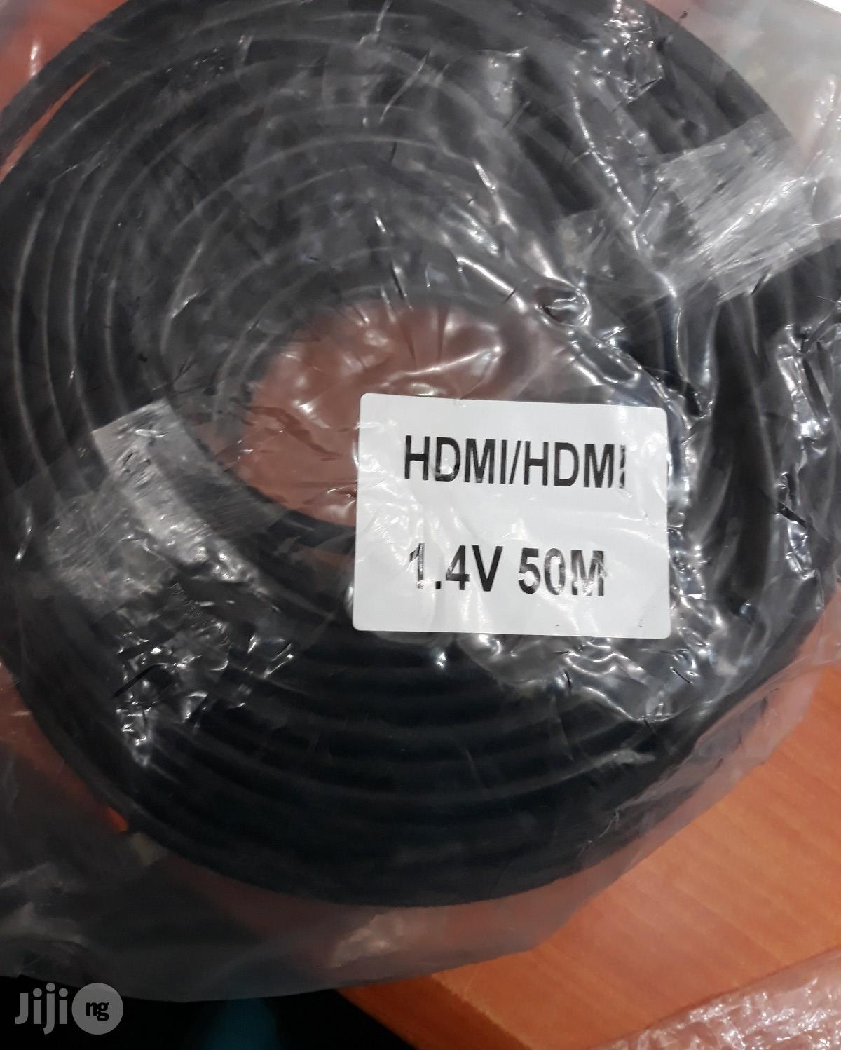 Hdmi Cable 50m Black With IC 4k
