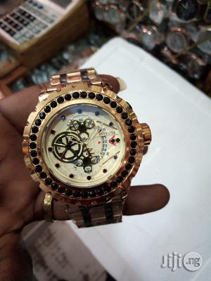 Invecta Big Face Watch - Gold and Silver | Watches for sale in Lagos State, Surulere