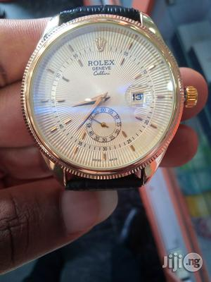 Rolex Geneve Leather Watch | Watches for sale in Rivers State, Port-Harcourt