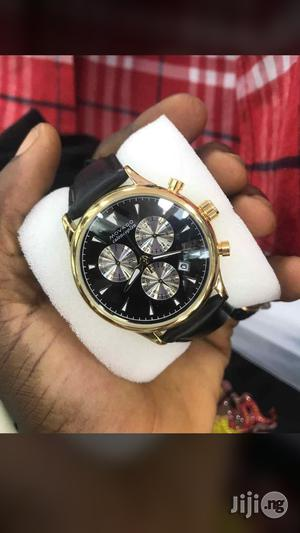 Movado Chronograph Genuine Leather Strap Watch | Watches for sale in Lagos State, Surulere