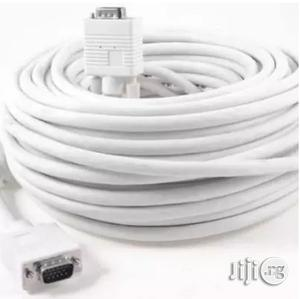 VGA Cable - White - 20m   Accessories & Supplies for Electronics for sale in Lagos State, Ikeja