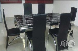 Affordable Six Seater Marble Dining Table | Furniture for sale in Lagos State