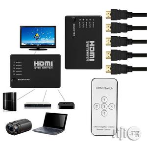 1080P HDMI Switch 5 In 1 Out HDMI Switcher With IR Remote Control   Accessories & Supplies for Electronics for sale in Lagos State, Ikeja