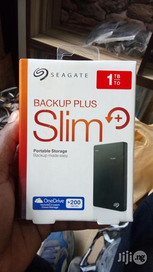 Seagate 1TB External Hard Drive Back Up Plus Slim | Computer Hardware for sale in Lagos State, Ikeja