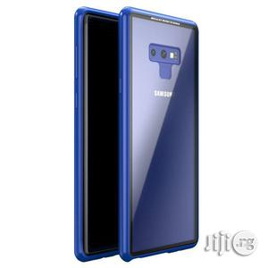 Magnetic Absorption Tempered Glass Metal Case Cover for Samsung Galaxy Note 9 (Blue) | Accessories for Mobile Phones & Tablets for sale in Lagos State, Ikeja