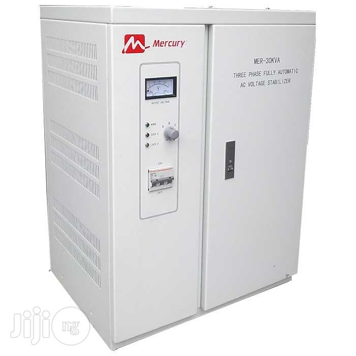 Mercury 30kva 3-phase Fully Automatic AC Voltage Stabilizer   Electrical Equipment for sale in Victoria Island, Lagos State, Nigeria