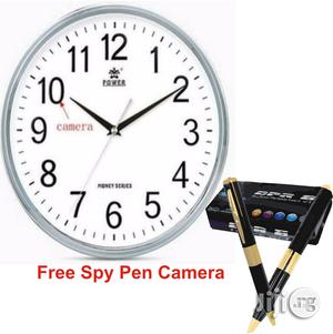 Wifi Spy Wall Clock Camera With Spy Pen Camera | Security & Surveillance for sale in Lagos State, Ikeja