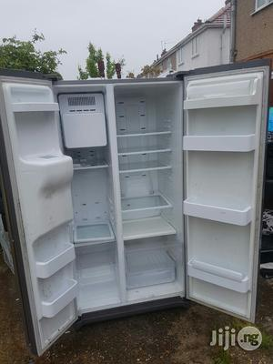 Samsung Fridge Side By Side Double Doors With Dispenser   Kitchen Appliances for sale in Lagos State, Ojo