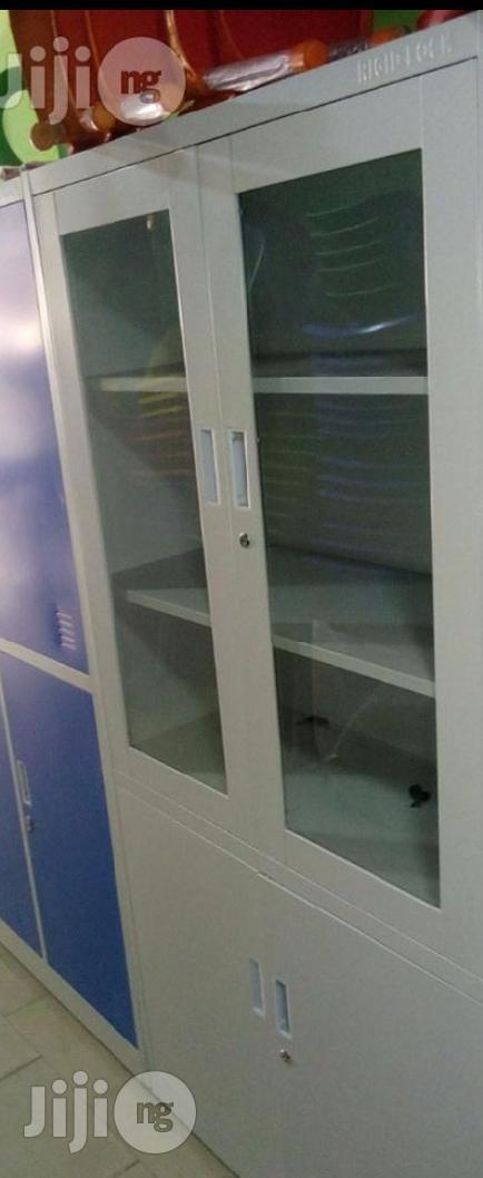 Modern 2-Door Metal Filing Cabinet