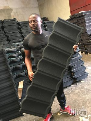 Black And Wine Milano Stone Coated Roofing Sheet | Building Materials for sale in Lagos State, Lekki