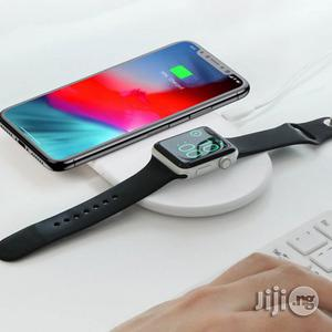 Smart 2 in 1 Wireless Charger for Apple Watch and Phone   Smart Watches & Trackers for sale in Lagos State, Ikeja