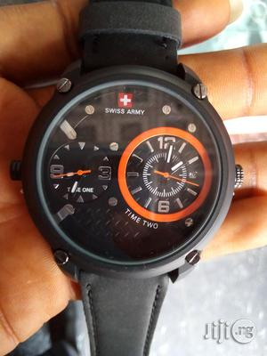 Swiss Army Leather Watch   Watches for sale in Rivers State, Port-Harcourt
