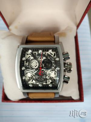 Invicta Men's Brown Leather Wristwatch   Watches for sale in Lagos State, Surulere