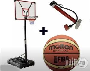 Basketball Stand With Free Basketball And Pump | Sports Equipment for sale in Lagos State, Lekki